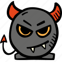 devil, holiday, halloween, scary, spooky icon
