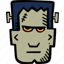 frankenstein, scary, holiday, halloween, spooky icon