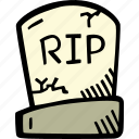 grave, halloween, holiday, scary, spooky icon