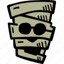 halloween, holiday, mummy, scary, spooky icon