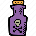 scary, holiday, halloween, poison, spooky icon