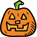 scary, pumpkin, holiday, halloween, spooky icon