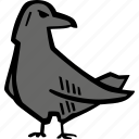 scary, holiday, halloween, raven, spooky icon