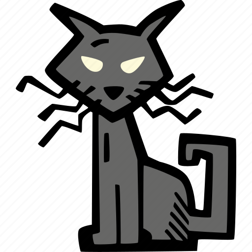 cat, halloween, holiday, scary, spooky icon