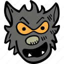 scary, holiday, halloween, spooky, werewolf icon