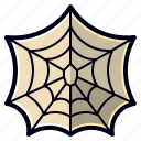 cobweb, halloween, spider, web icon