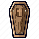 coffin, dead, evil, halloween, horror, spooky icon