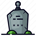 dead, grave, gravestone, halloween, horror, spooky icon