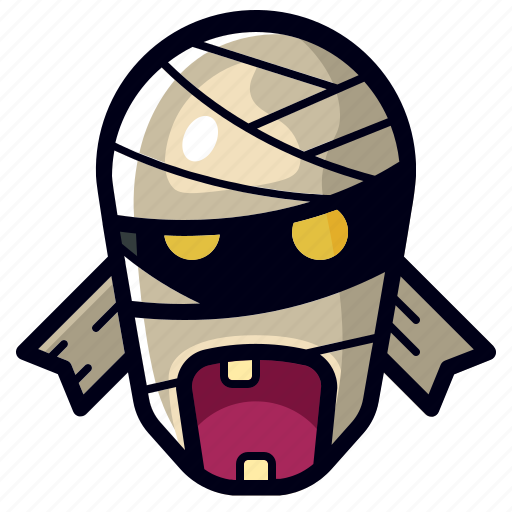 character, halloween, horror, monster, mummy, scary, spooky icon