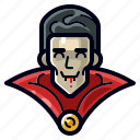 dracula, halloween, holiday, horror, scary, spooky, vampire icon