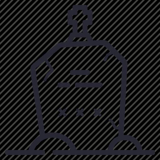 Dead, grave, gravestone, halloween icon - Download on Iconfinder