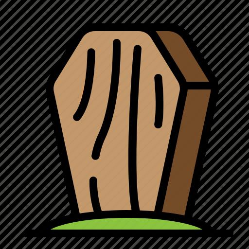 coffin, hallowen, stand, wood icon