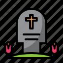 gemstone, halloween, mourn, stone, tomb icon