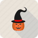 food, fruit, halloween, hat, pumpkin, vegetable icon