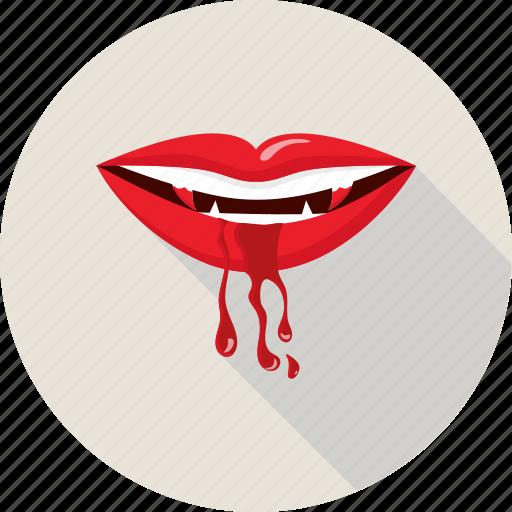 devil, halloween, lips, monster, teeth, undead, vampire icon