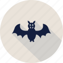 bat, bird, fly, halloween icon