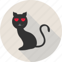 black cat, black evil cat, cat, evil cat, halloween, scary icon