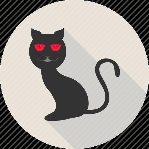 black cat, black evil cat, cat, evil cat, halloween, scary icon