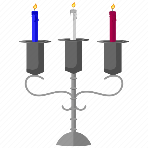 candles, decoration, halloween icon