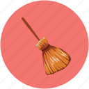 halloween besom, halloween brush, halloween mop, halloween witch broom, witch broom icon
