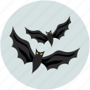 bats, dreadful, evil bats, fearful, halloween bats, horrible, scary icon
