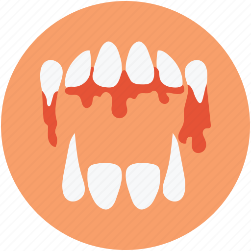 demon mouth, devil teeth, halloween demon mouth, halloween denture fangs icon