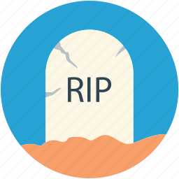 dreadful, halloween gravestone, halloween tombstone, headstone, rest in peace, scary, tombstone icon