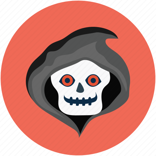 dreadful, evil, halloween skull, horrible, scary, scary evil ghost icon