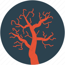 creepy mojave landscape, halloween dead tree, halloween tree icon