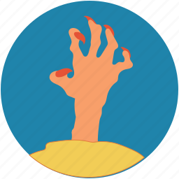 dead man, evil hand, ghost hand, grave hand, zombie hand icon