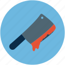 bloody knife, halloween bloody knife, halloween butcher knife icon