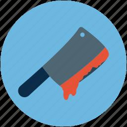 bloody knife, halloween bloody knife, halloween butcher knife icon