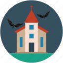 halloween horror castle, halloween mansion, horror castle icon