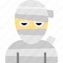 halloween, mummified, mummy, mummy icon icon