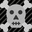 corpse, death, skull, skull icon icon