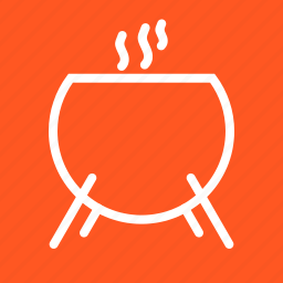ancient, cauldron, cooking, fire, pot, slime, soup icon