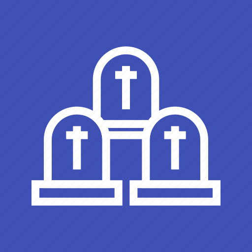 death, grave, graveyard, halloween, horror, mystery, scary icon