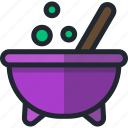 cauldron, halloween, witch icon