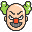 clown, evil, face, halloween icon