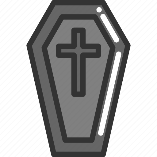 coffin, halloween icon