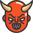 devil, face, halloween icon