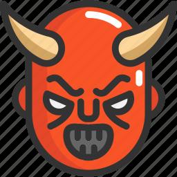 devil, face, halloween icon
