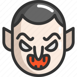 dracula, face, halloween icon