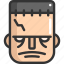 face, frankenstein, halloween icon