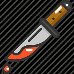 blood, halloween, knife icon
