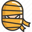 face, halloween, mummy icon