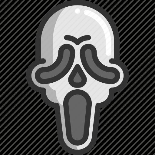 face, halloween, scream icon