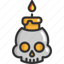 fire, halloween, skull icon
