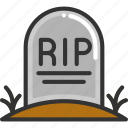 halloween, rip, tombstone icon
