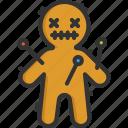 doll, halloween, voodoo icon